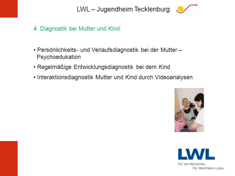 LWL – Jugendheim Tecklenburg 4. Diagnostik bei Mutter und Kind: Persönlichkeits- und Verlaufsdiagnostik bei der Mutter – Psychoedukation Regelmäßige E