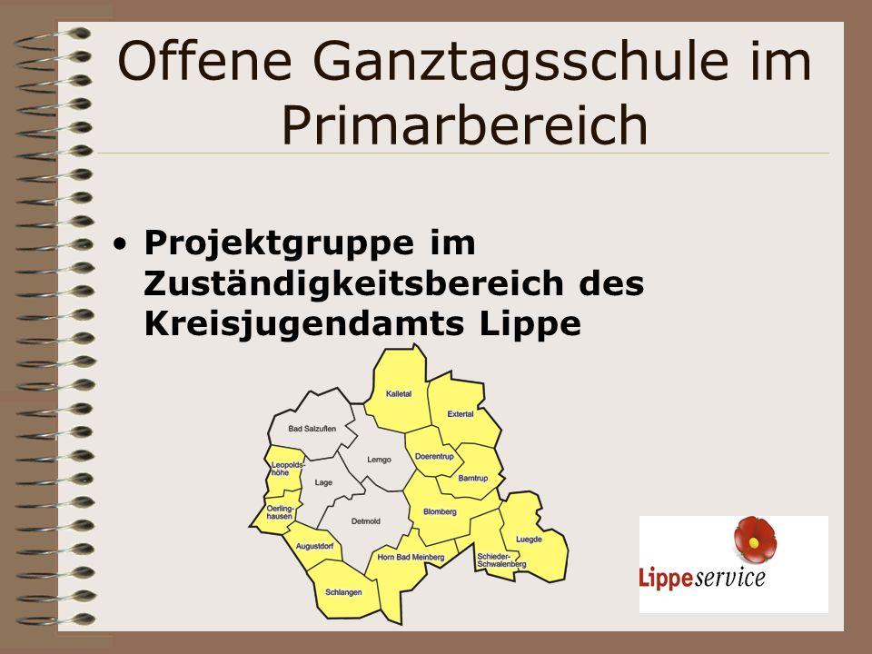 Offene Ganztagsschule im Primarbereich Projektgruppe im Zuständigkeitsbereich des Kreisjugendamts Lippe