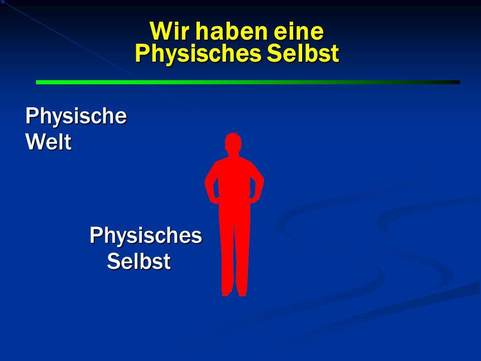 PhysischeWelt Physisches Selbst Wir haben eine Physisches Selbst