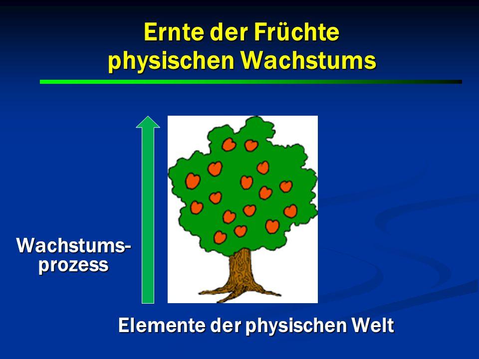 Ernte der Früchte physischen Wachstums Wachstums-prozess Elemente der physischen Welt