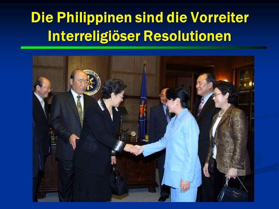 17 Die Philippinen sind die Vorreiter Interreligiöser Resolutionen