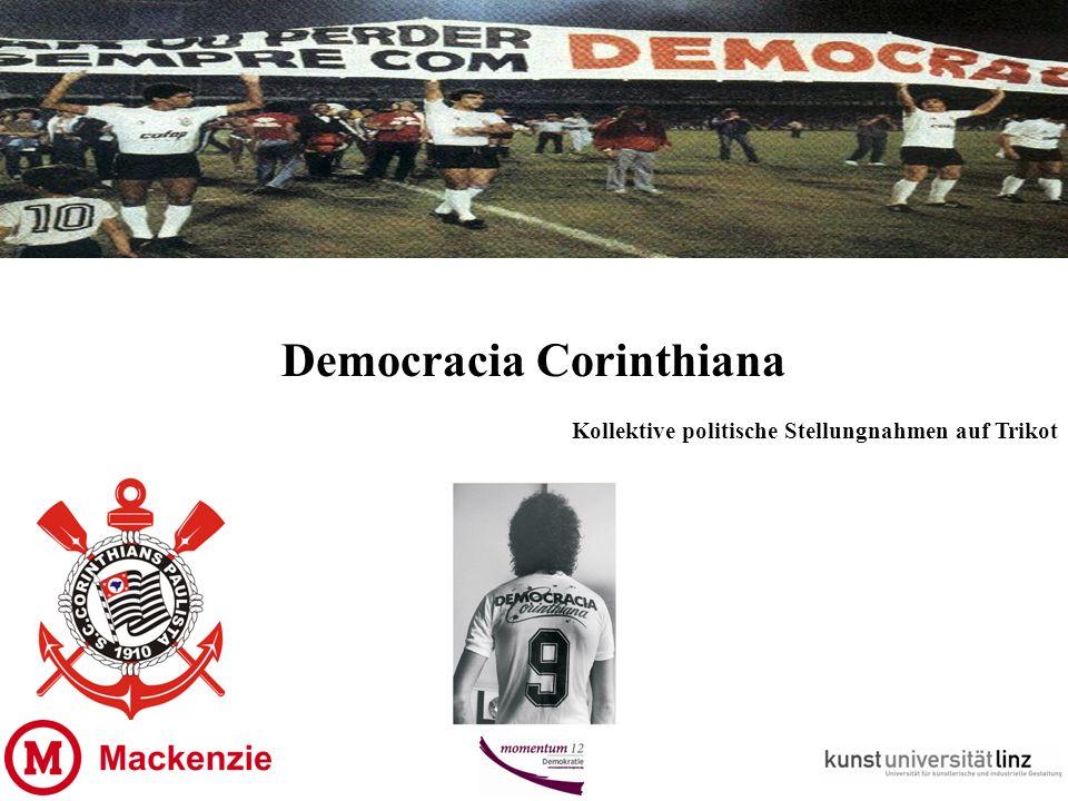 Democracia Corinthiana Kollektive politische Stellungnahmen auf Trikot
