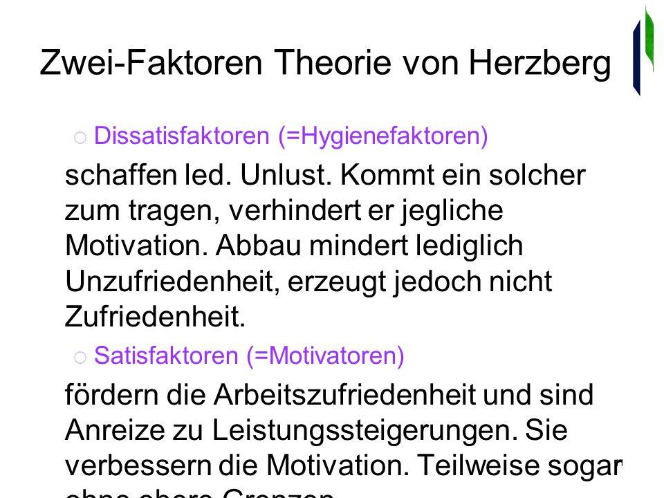 11 Zwei-Faktoren Theorie von Herzberg Dissatisfaktoren (=Hygienefaktoren) schaffen led.