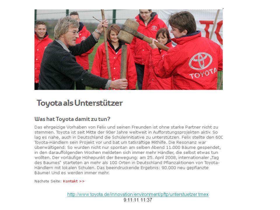http://www.auto.de/magazin/showArticle/article/22934/Partnerschaft-von-Alpenverein-und-Toyota-zugunsten-Plant-for-the-Planet 9.11.11 11:56