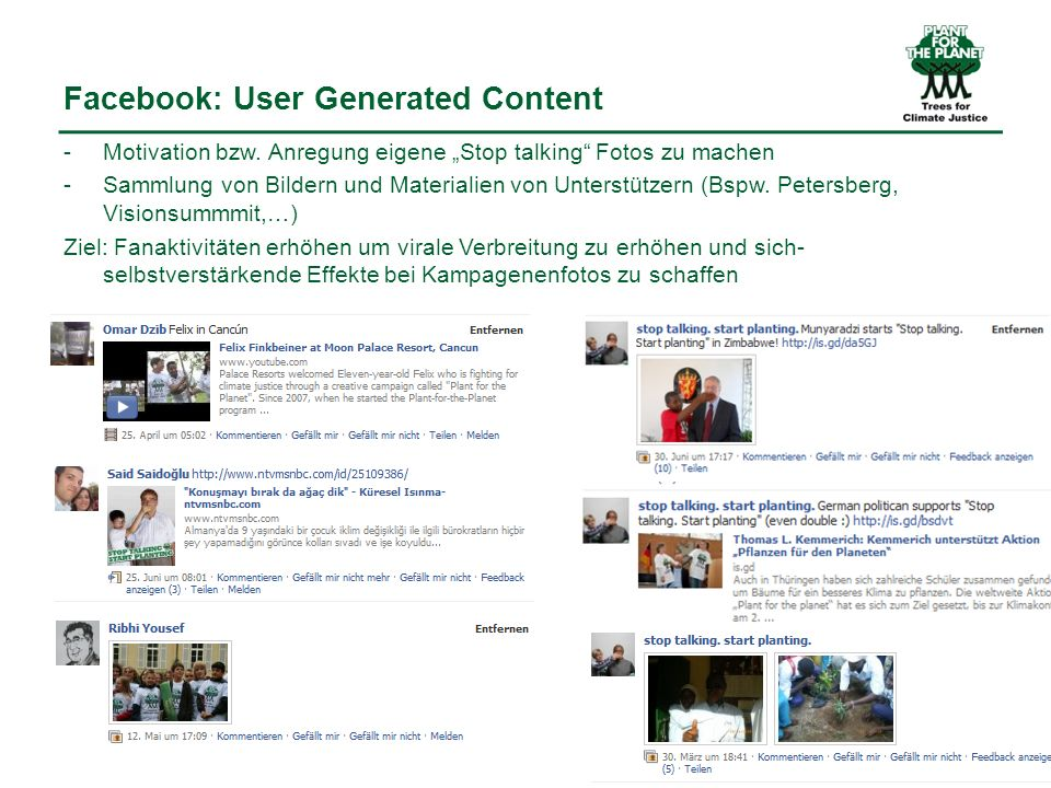 Facebook: User Generated Content -Motivation bzw.
