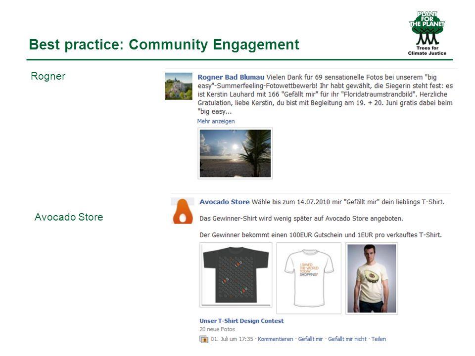 Facebook: Hauptziel und Erfolgskriterien Vernetzungsdichte nutzen um Plant-for-the-Planet Inhalte über Stop talking.