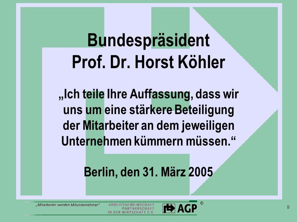 9 Bundespräsident Prof. Dr.