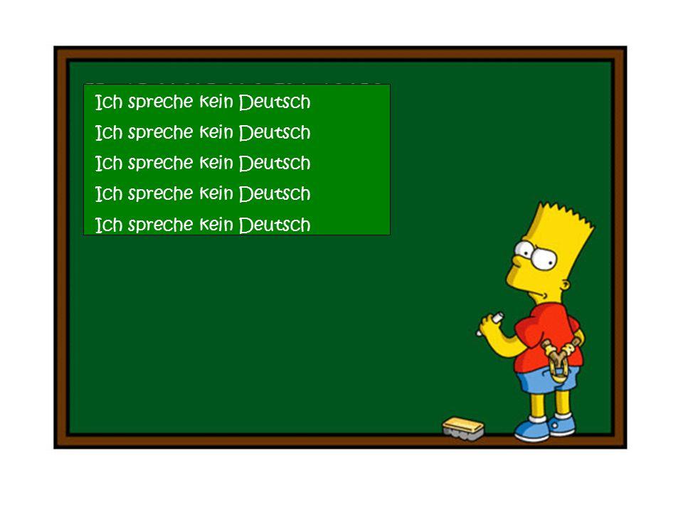 Ich spreche kein Deutsch