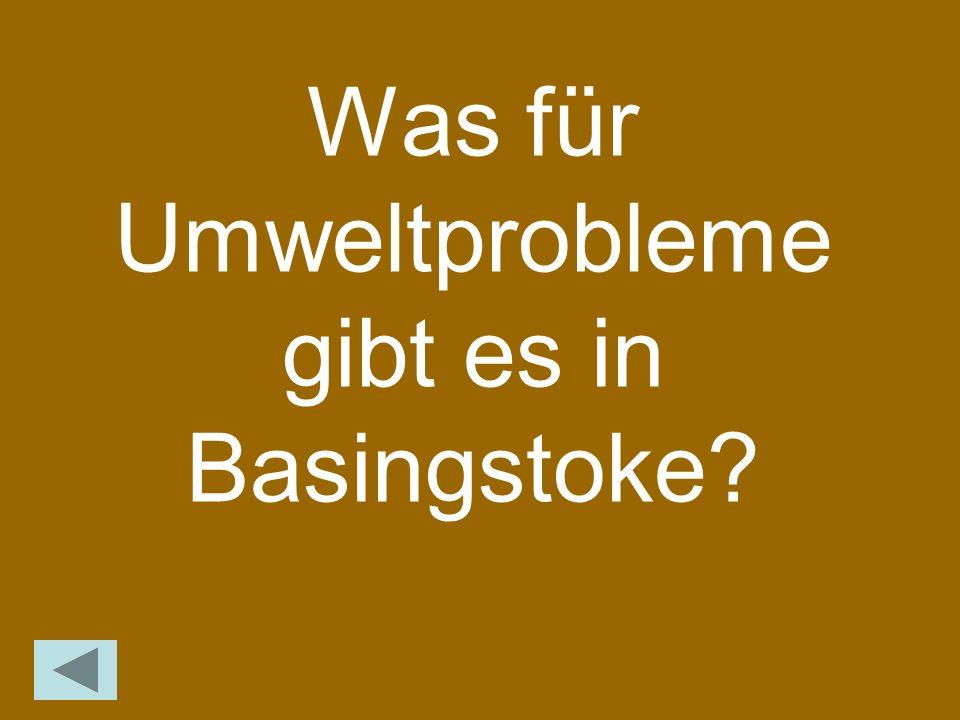 Was für Umweltprobleme gibt es in Basingstoke?