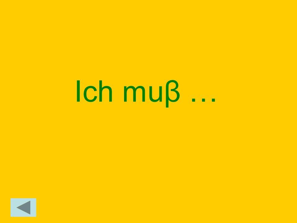 Ich muβ …