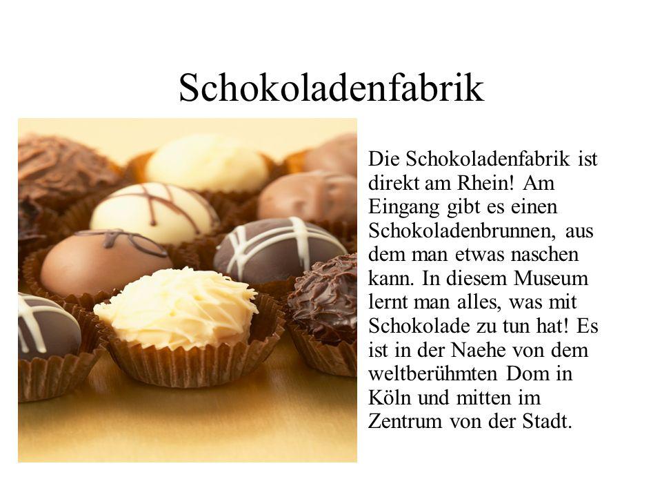 Schokoladenfabrik Die Schokoladenfabrik ist direkt am Rhein.