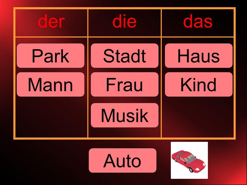 derdiedas ParkStadtHaus MannKindFrau Musik Auto