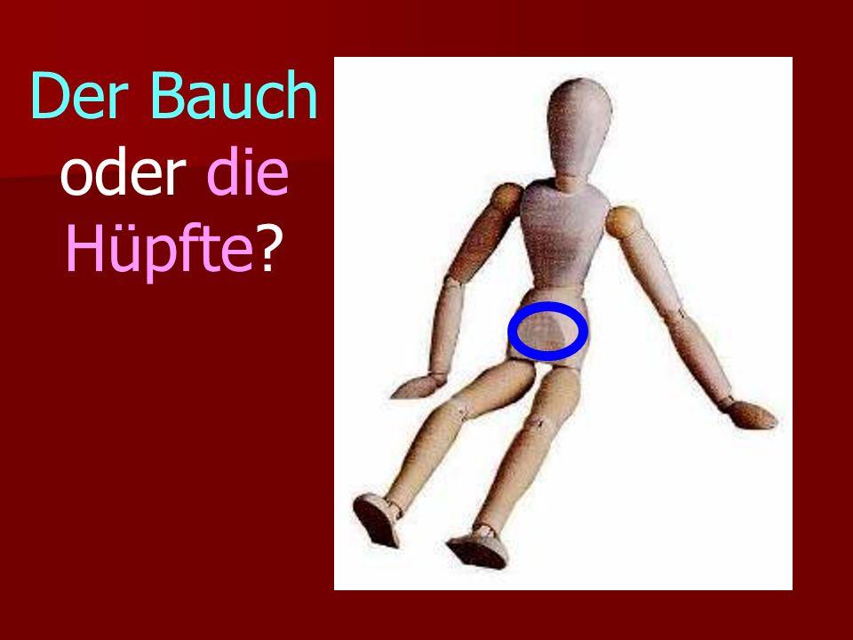 Der Bauch oder die Hüpfte?