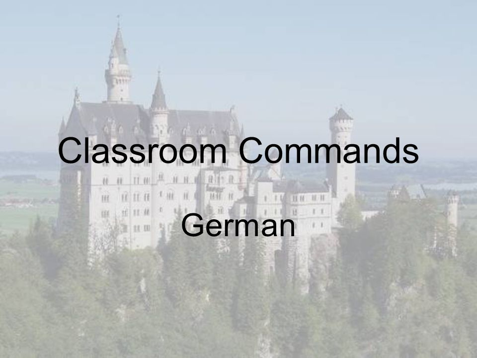 Classroom Commands German