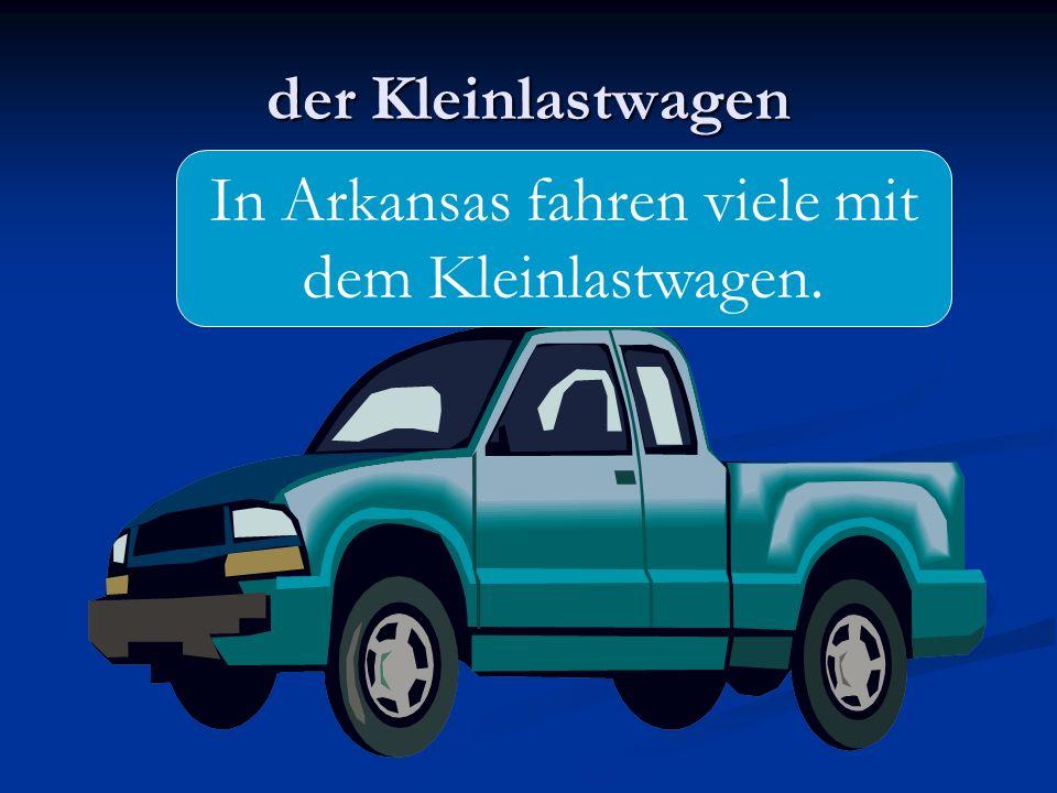 der Kleinlastwagen In Arkansas fahren viele mit dem Kleinlastwagen.