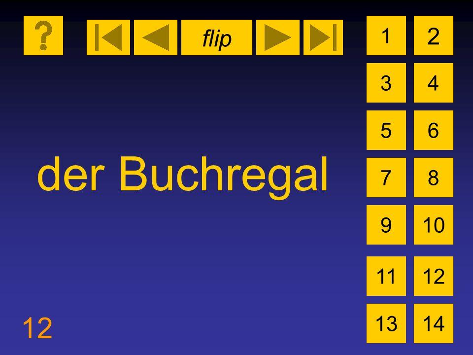 flip 12 1 3 2 4 5 7 6 8 910 1112 1314 der Buchregal