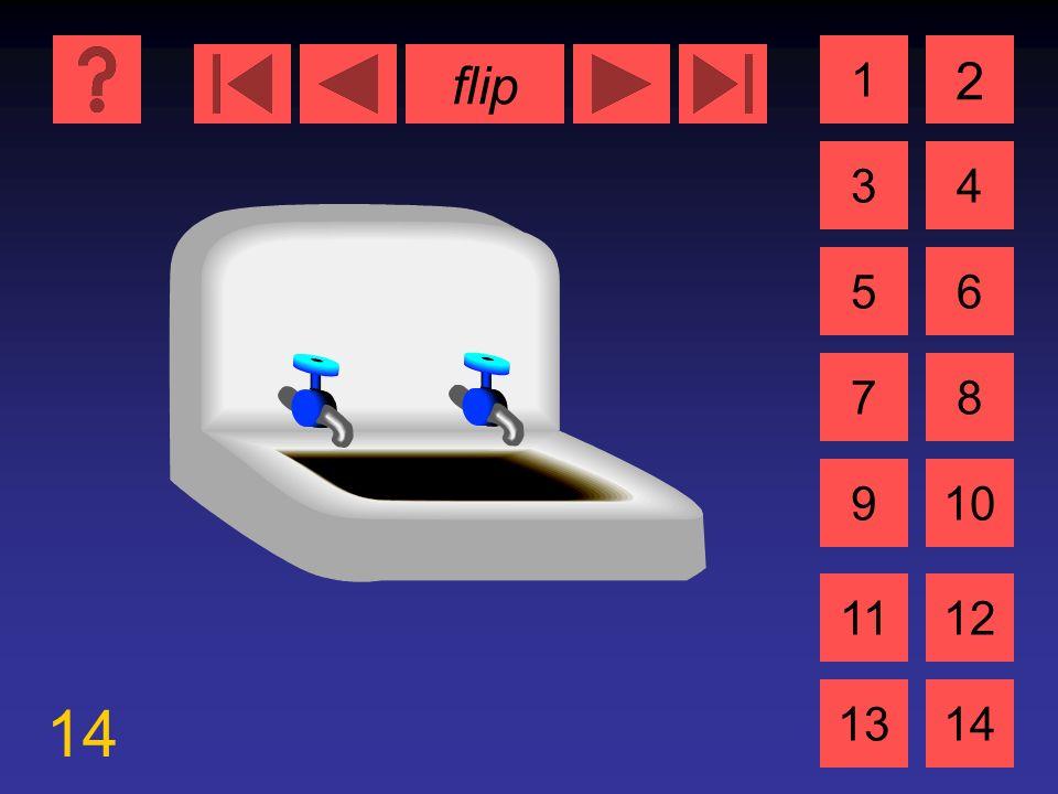 flip 14 1 3 2 4 5 7 6 8 910 1112 1314