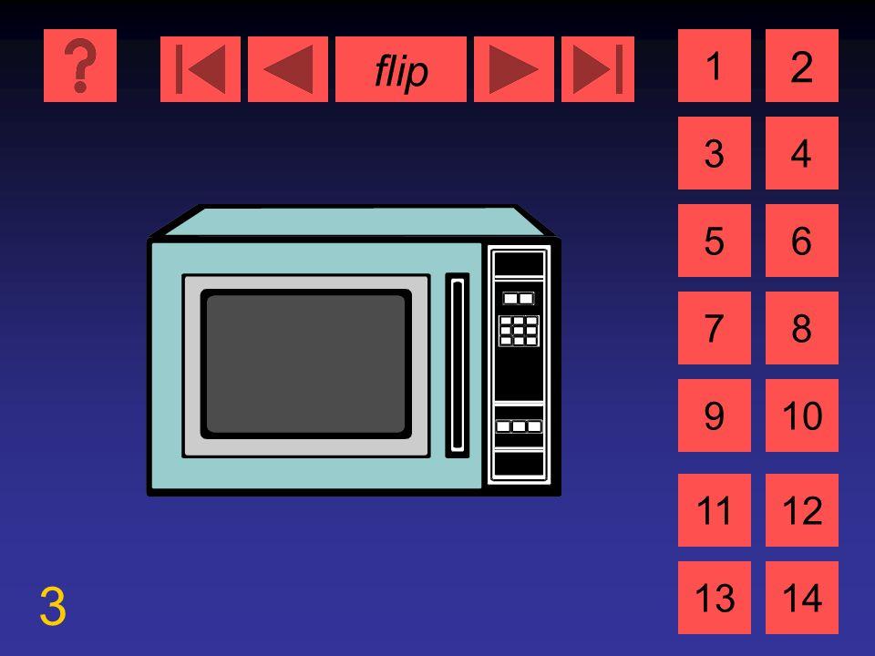 flip 3 1 3 2 4 5 7 6 8 910 1112 1314 das Mikrowelleherd