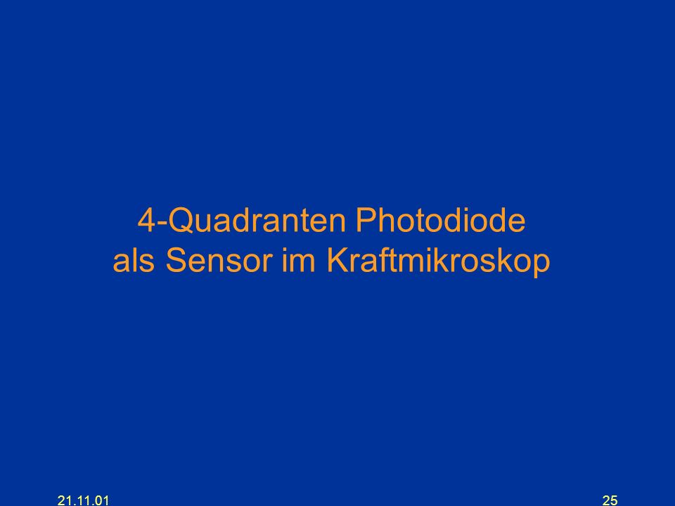 21.11.0125 4-Quadranten Photodiode als Sensor im Kraftmikroskop