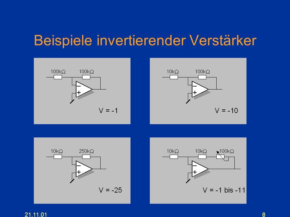 21.11.018 Beispiele invertierender Verstärker