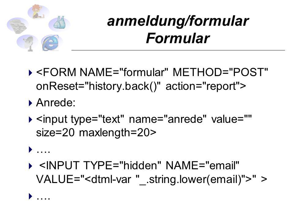 anmeldung/formular Formular Anrede: ….
