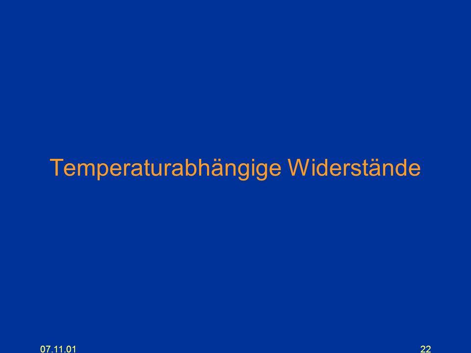 07.11.0122 Temperaturabhängige Widerstände