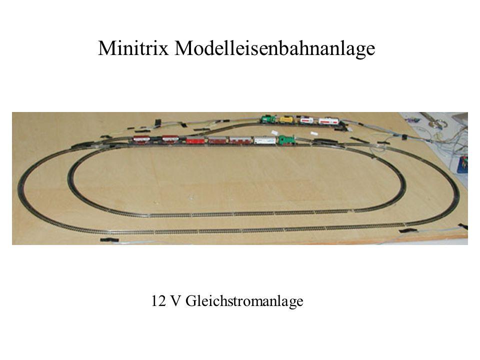 Minitrix Modelleisenbahnanlage 12 V Gleichstromanlage