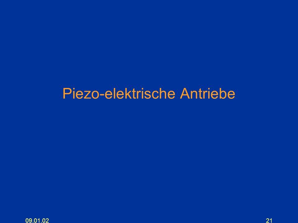 09.01.0221 Piezo-elektrische Antriebe