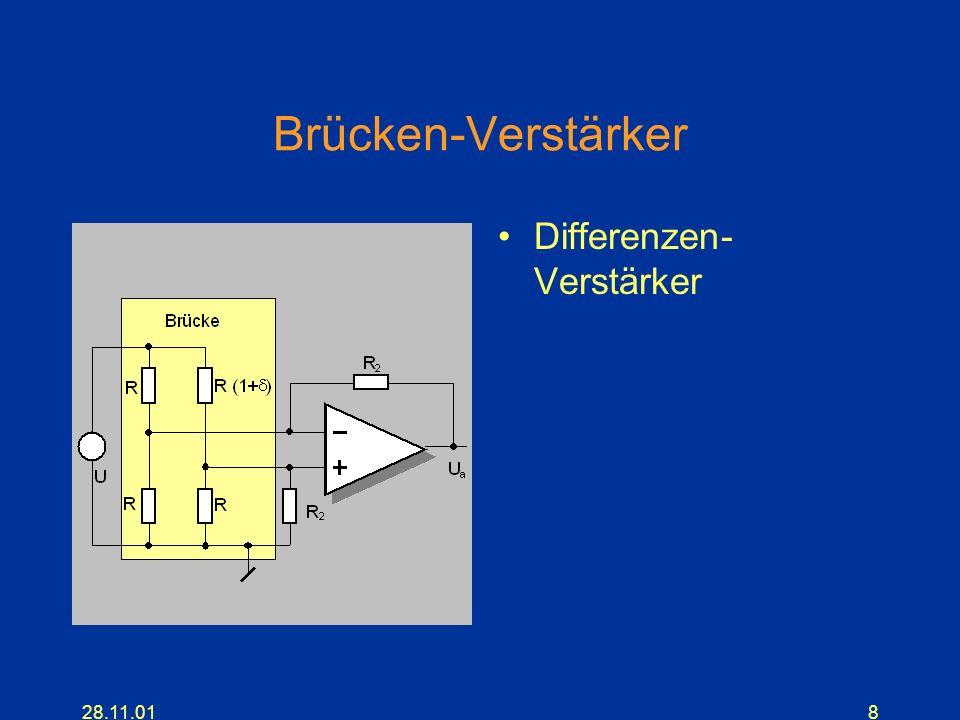 28.11.018 Brücken-Verstärker Differenzen- Verstärker