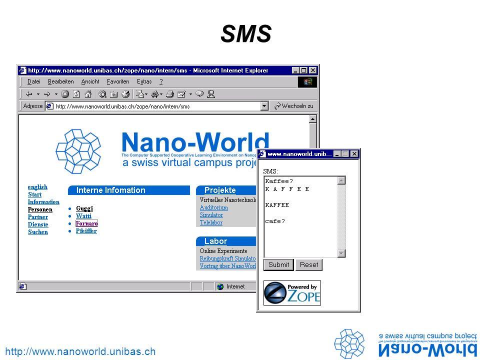 http://www.nanoworld.unibas.ch SMS