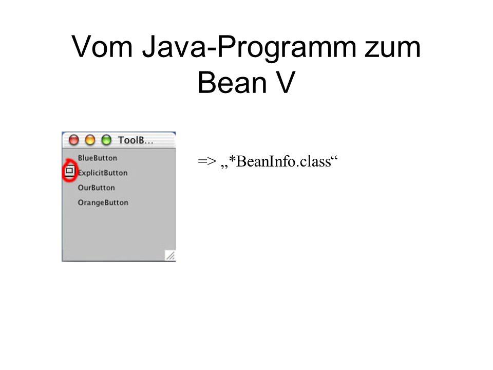 Vom Java-Programm zum Bean V => *BeanInfo.class