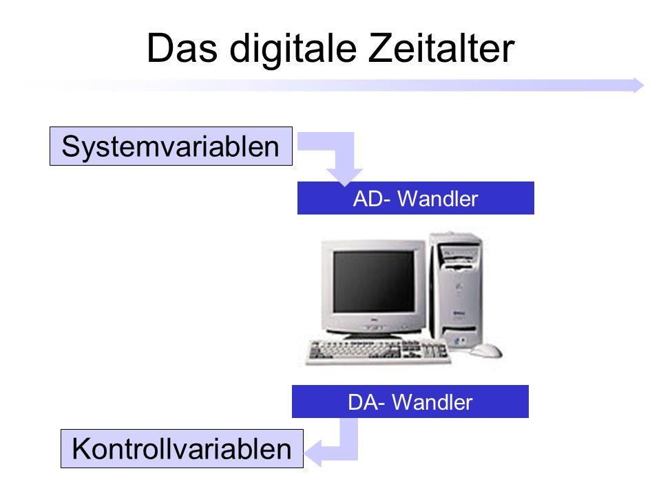 Das digitale Zeitalter AD- Wandler DA- Wandler Systemvariablen Kontrollvariablen