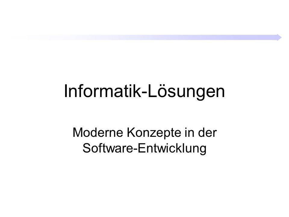 Informatik-Lösungen Moderne Konzepte in der Software-Entwicklung