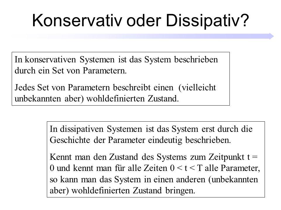 Kontroll- und Systemvariablen Der Experimentator kontrolliert die Kontrollvariablen, das System reagiert durch eine Veränderung der Systemvariablen.