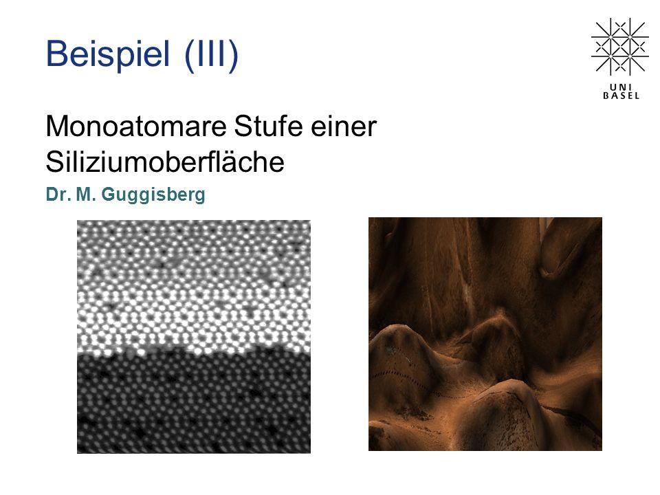 Monoatomare Stufe einer Siliziumoberfläche Dr. M. Guggisberg Beispiel (III)