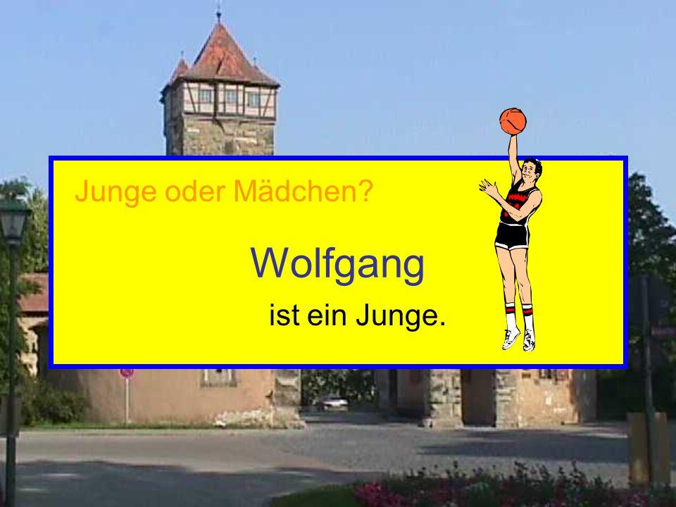 Wolfgang ist ein Junge. Junge oder Mädchen?