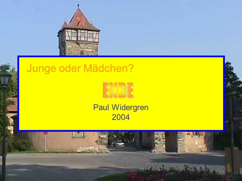 Paul Widergren 2004 Junge oder Mädchen?