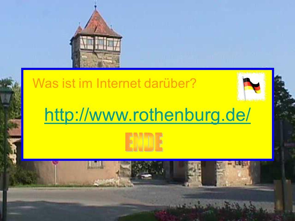 http://www.rothenburg.de/ Was ist im Internet darüber