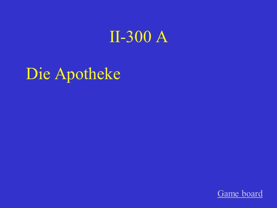 II-200 A Schnupfen Game board