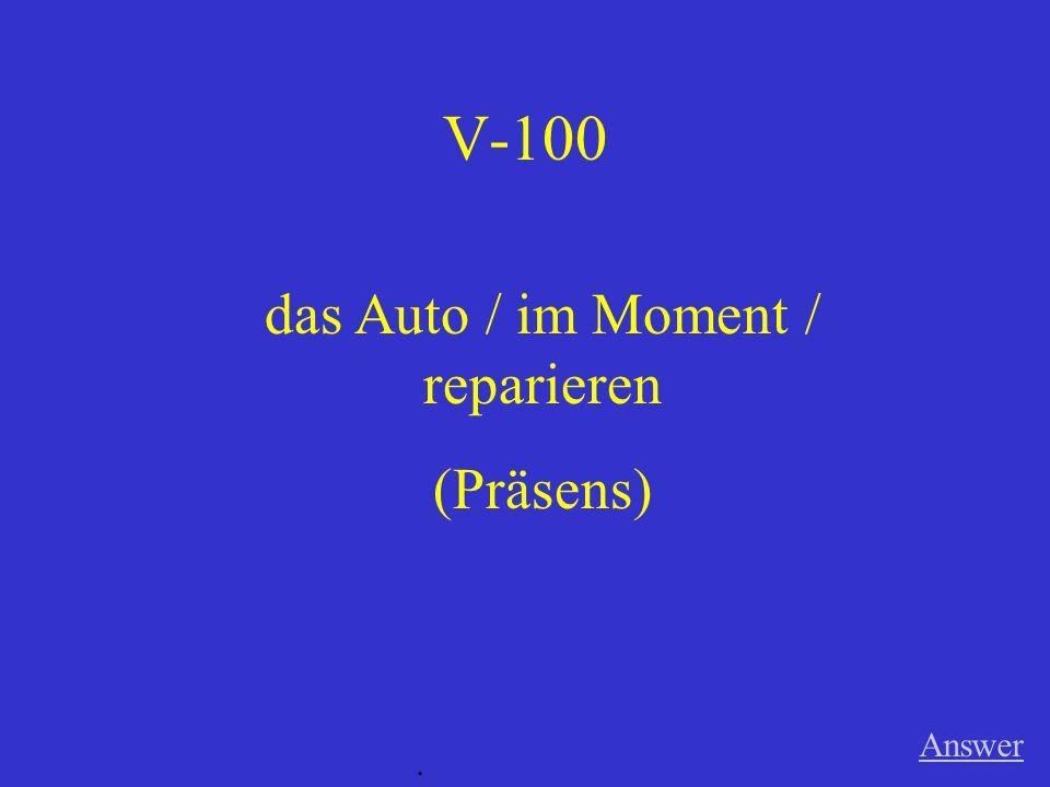 IV-500 die Deutschklasse / die Zukunft / besprechen (Perfekt) Answer.