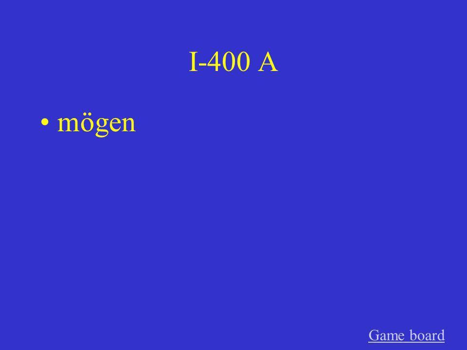 I-300 A können GameGame board