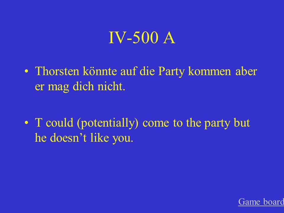 IV-400 A Wenn Tobias nur den ganzen Tag Videospiele spielen dürfte.