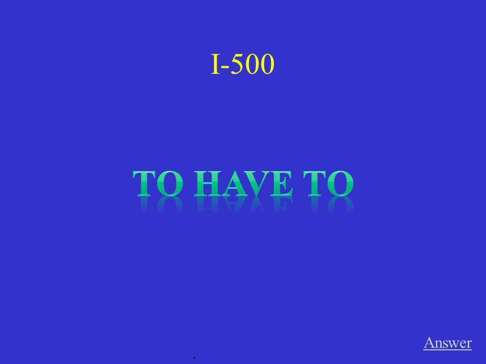 V-500 Bodo / müssen / die Hausarbeit früher machen Answer.