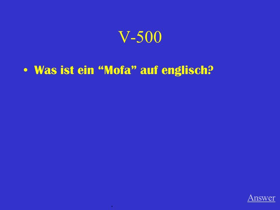 V-400 Was ist Taschengeld auf englisch? Answer.