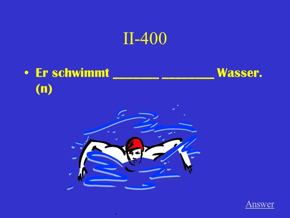 II-300 Der Mann schläft ________ __________ Tisch. Answer.