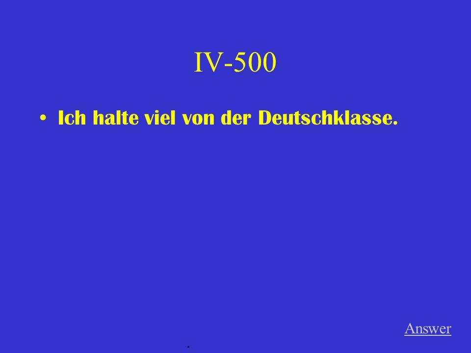 IV-400 Martin interessiert sich für das Mädchen. Answer.
