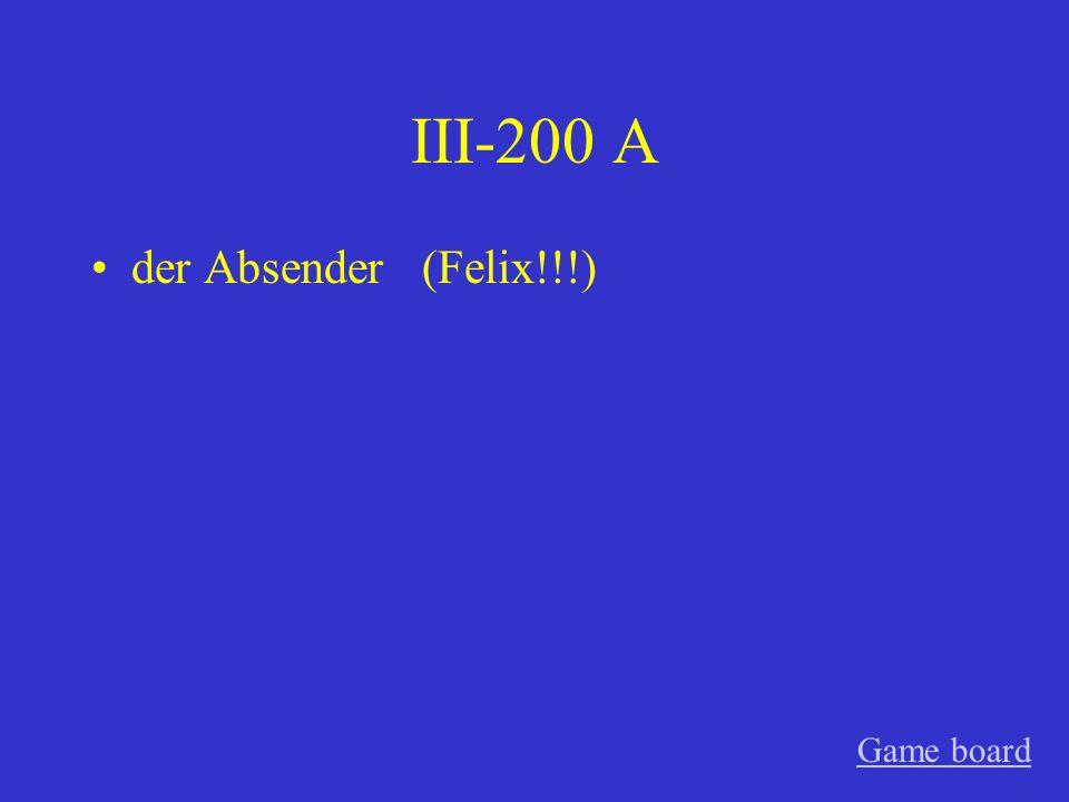 III-100 A die Sendung Game board