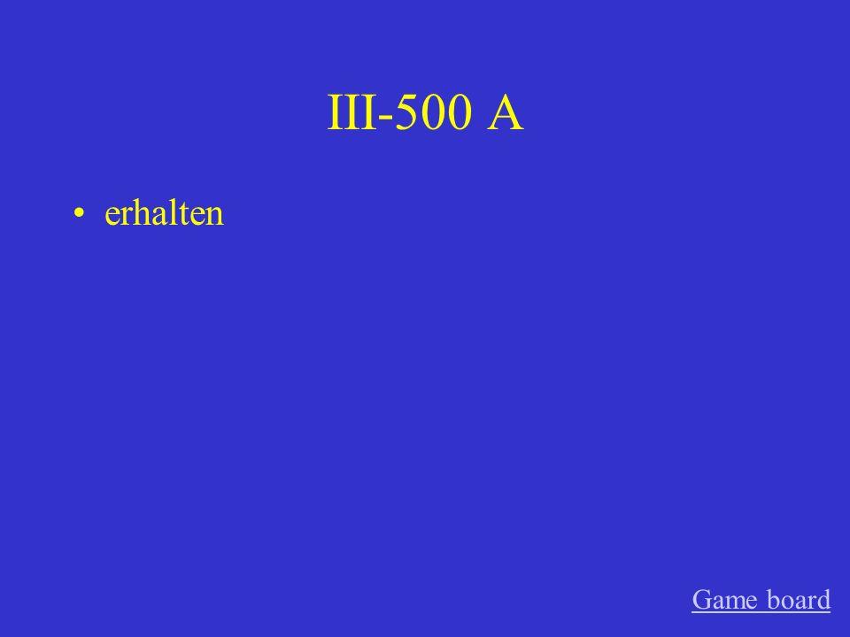 III-400 A der Umschlag Game board