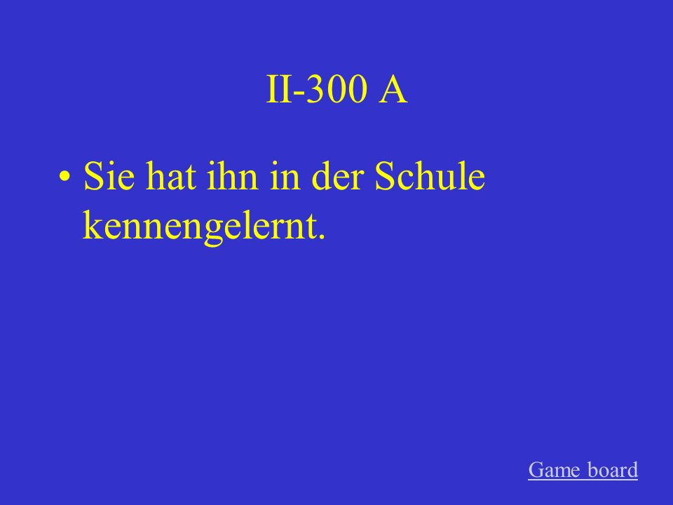 II-200 A Wo hast du übernachtet? Game board
