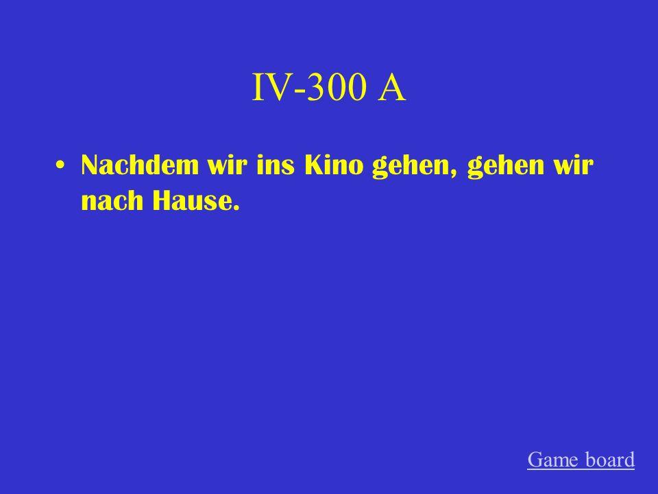 IV-200 A Mein Bruder lernt Deutsch damit er nach Deutschland reisen kann. Game board